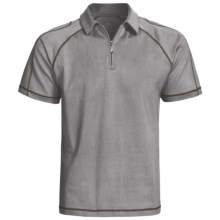 Gramicci Cloverdale High-Performance Polo Shirt - UPF 50, Zip Neck, Short Sleeve (For Men) in Cloudburst - Closeouts