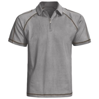 Gramicci Cloverdale High-Performance Polo Shirt - UPF 50, Zip Neck, Short Sleeve (For Men) in Cloudburst