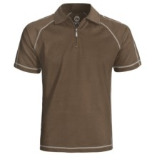 Gramicci Cloverdale High-Performance Polo Shirt - UPF 50, Zip Neck, Short Sleeve (For Men) in Dark Earth - Closeouts
