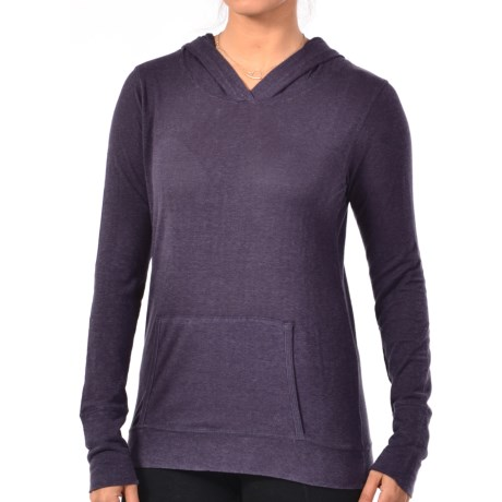 Gramicci Coco Hoodie Shirt - UPF 50, Organic Cotton-Hemp, Long Sleeve (For Women) in Aubergine