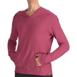 Gramicci Coco Hoodie Shirt - UPF 50, Organic Cotton-Hemp, Long Sleeve (For Women) in Barberry