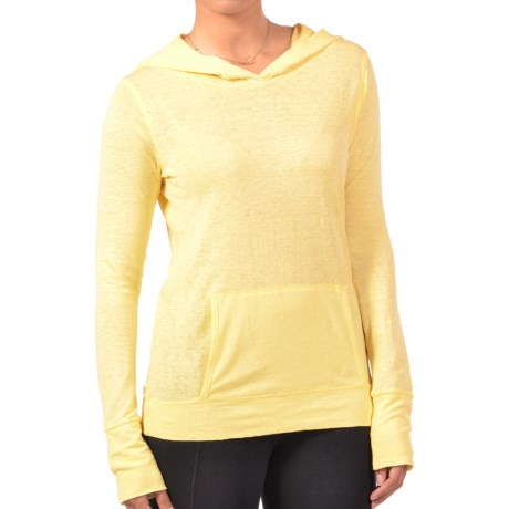 Gramicci Coco Hoodie Shirt - UPF 50, Organic Cotton-Hemp, Long Sleeve (For Women) in Citris Yellow