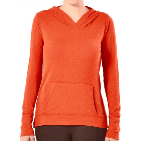 Gramicci Coco Hoodie Shirt - UPF 50, Organic Cotton-Hemp, Long Sleeve (For Women) in Scottish Orange