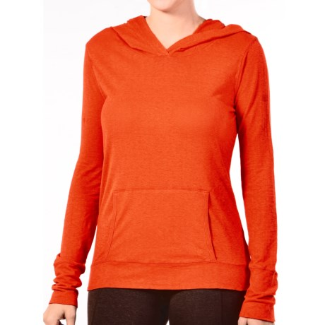 Gramicci Coco Hoodie Shirt - UPF 50, Organic Cotton-Hemp, Long Sleeve (For Women) in Uniform Red