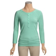 Gramicci Cosette Henley Shirt - Organic Cotton-Hemp, UPF 50, 3/4 Sleeve (For Women) in Cockatoo - Closeouts
