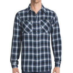 Gramicci Crossriver Plaid Montrose Shirt - Long Sleeve (For Men) in Maji Blue