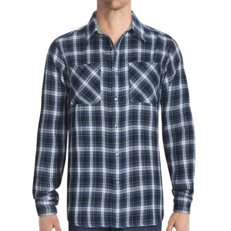 Gramicci Crossriver Plaid Montrose Shirt - Long Sleeve (For Men) in Maji Blue