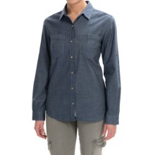 Gramicci Daphne Shirt - Long Sleeve (For Women) in Indigo Blue Chambray - Closeouts