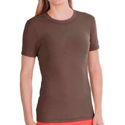 Gramicci Dash Isotonic Jersey T-Shirt - Organic Cotton, UPF 30 (For Women) in Earth Grey - Closeouts