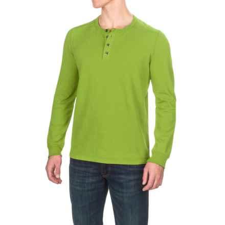 Gramicci Dawn Henley Shirt - Hemp-Organic Cotton, Long Sleeve (For Men) in Green Glow - Closeouts