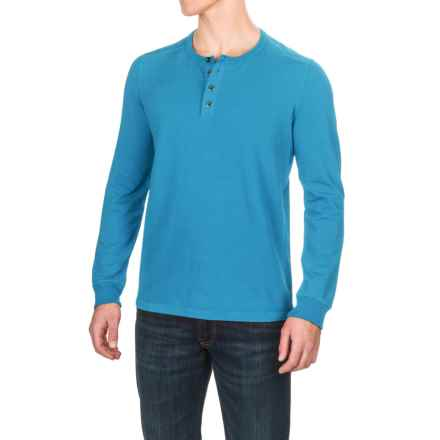 Gramicci Dawn Henley Shirt - Hemp-Organic Cotton, Long Sleeve (For Men) in Vision Blue - Closeouts