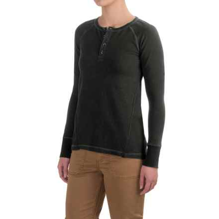 Gramicci Dawn Henley Shirt - Organic Cotton, Long Sleeve (For Women) in Black - Closeouts