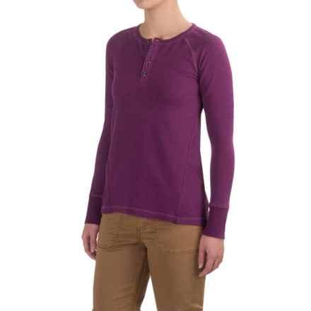Gramicci Dawn Henley Shirt - Organic Cotton, Long Sleeve (For Women) in Galaxy Purple - Closeouts