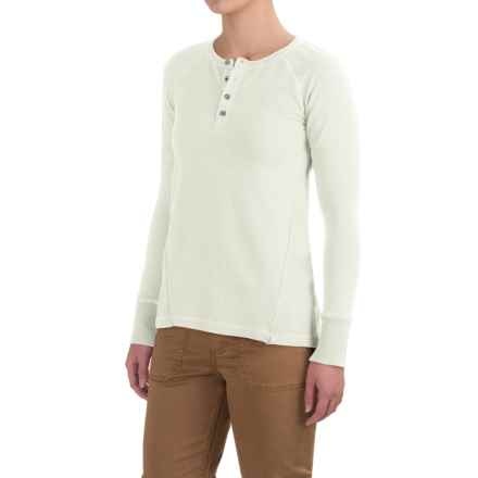 Gramicci Dawn Henley Shirt - Organic Cotton, Long Sleeve (For Women) in Natural - Closeouts