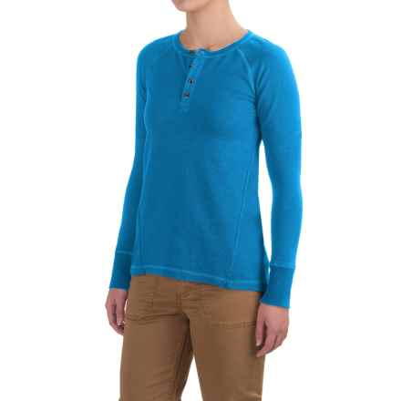 Gramicci Dawn Henley Shirt - Organic Cotton, Long Sleeve (For Women) in Vision Blue - Closeouts