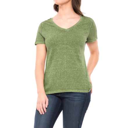 Gramicci Delia Modern V-Neck Shirt - Organic Cotton, Short Sleeve (For Women) in Olive Bronze - Closeouts