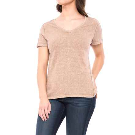 Gramicci Delia Modern V-Neck Shirt - Organic Cotton, Short Sleeve (For Women) in Rose Dust - Closeouts