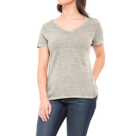 Gramicci Delia Modern V-Neck Shirt - Organic Cotton, Short Sleeve (For Women) in Stainless Steel