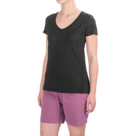 Gramicci Delia V-Neck Shirt - UPF 20, Short Sleeve (For Women) in Black - Closeouts
