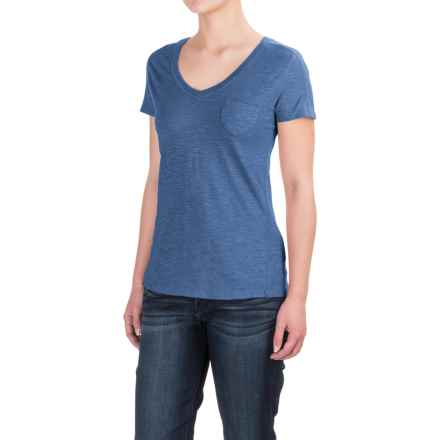 Gramicci Delia V-Neck Shirt - UPF 20, Short Sleeve (For Women) in Dutch Blue - Closeouts