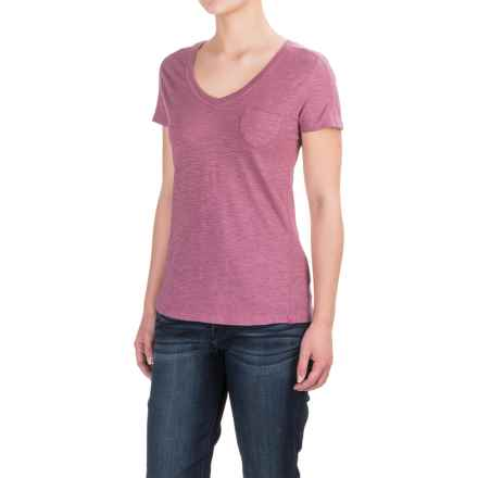 Gramicci Delia V-Neck Shirt - UPF 20, Short Sleeve (For Women) in Grape Nectar - Closeouts