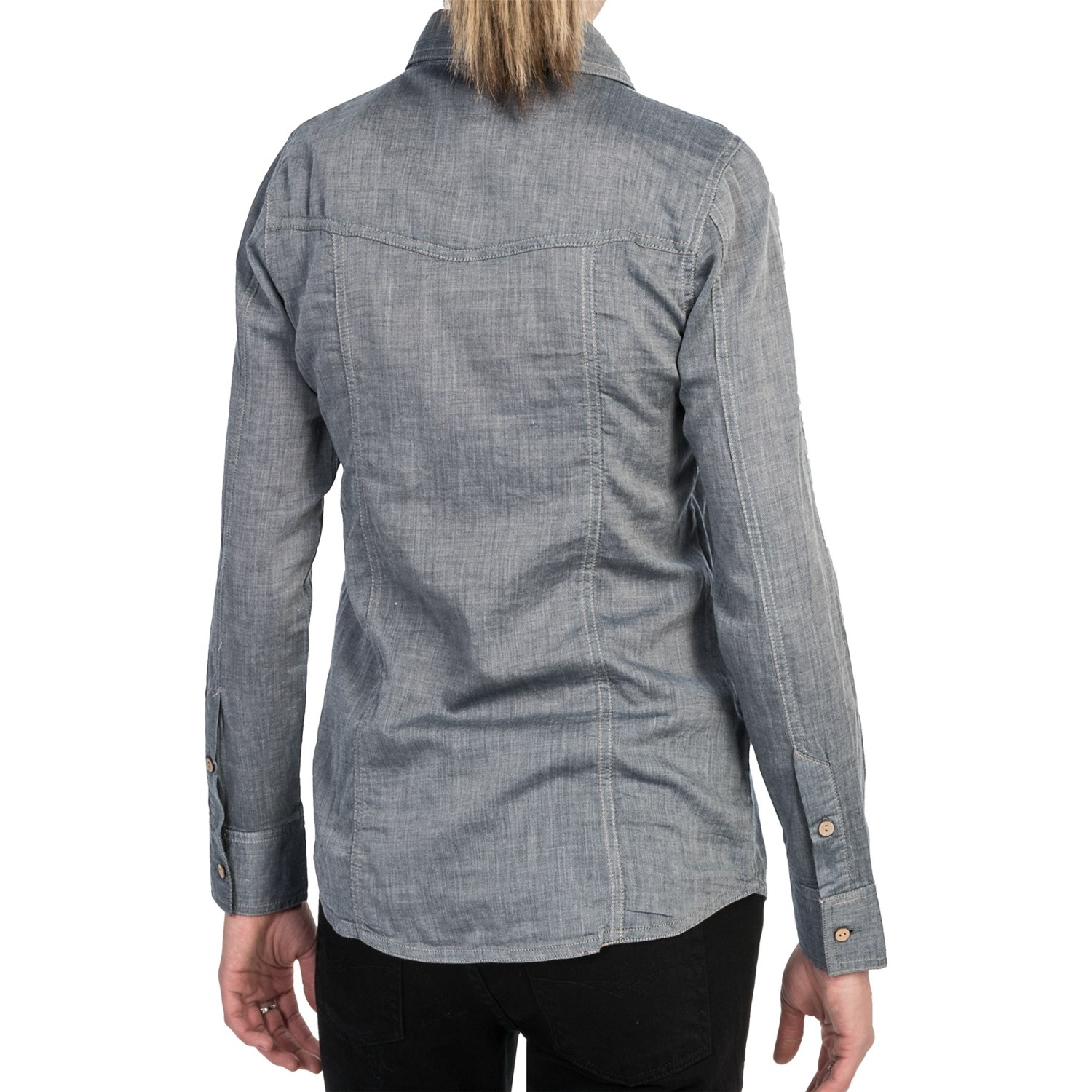 Gramicci didra chambray shirt for women 6823x save 66 for Chambray shirt women
