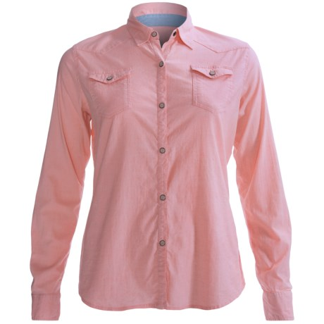 Gramicci Didra Marina Chambray Shirt - Long Sleeve (For Women) in Lobster Bisque