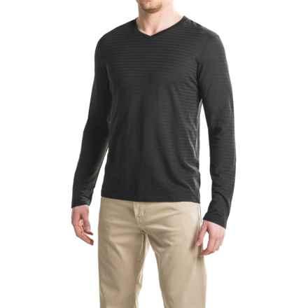 Gramicci Drake Hemp-Organic Cotton Shirt - V-Neck, Long Sleeve (For Men) in Black - Closeouts