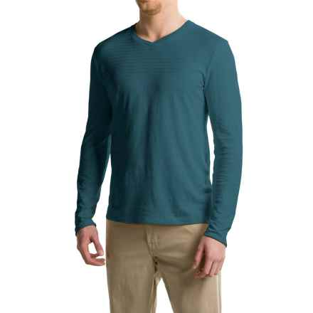 Gramicci Drake Hemp-Organic Cotton Shirt - V-Neck, Long Sleeve (For Men) in Legion Blue - Closeouts