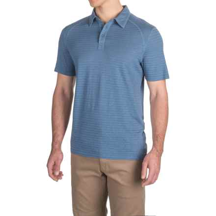 Gramicci Drake Polo Shirt - Short Sleeve (For Men) in River Blue - Closeouts