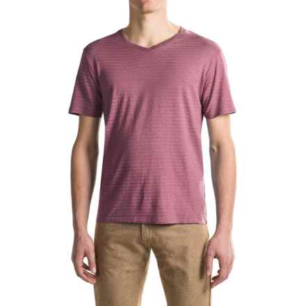 Gramicci Drake V-Neck T-Shirt - UPF 20, Hemp-Organic Cotton, Short Sleeve (For Men) in Sangria Red - Closeouts