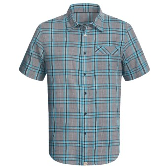 Gramicci Drakes Bay Shirt - Short Sleeve (For Men) in Scuba Blue