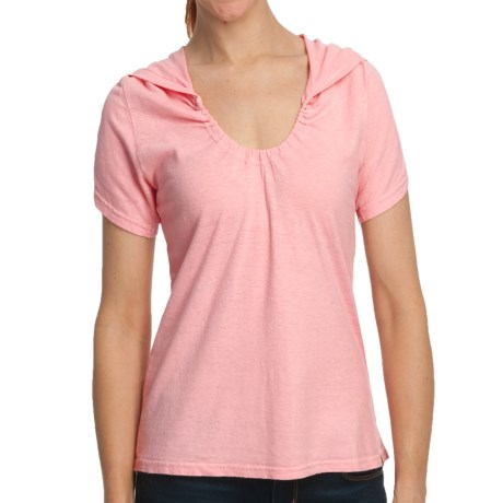 Gramicci Elise Shirt - Hemp-Organic Cotton, Short Sleeve (For Women) in Candy Pink