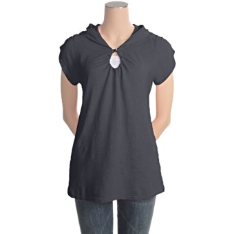 Gramicci Elise Shirt - Hemp-Organic Cotton, Short Sleeve (For Women) in Jet Black