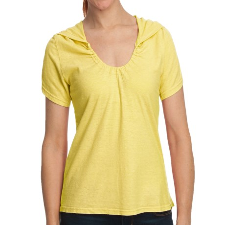 Gramicci Elise Shirt - Hemp-Organic Cotton, Short Sleeve (For Women) in Lemon Drop