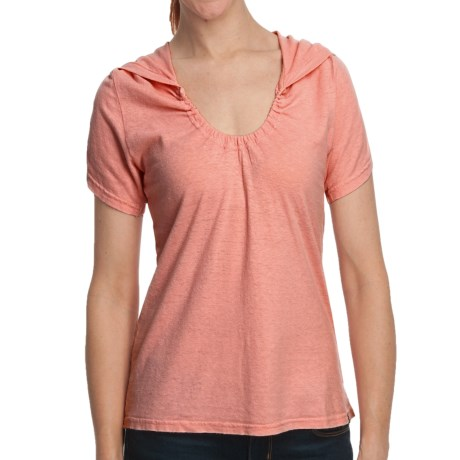 Gramicci Elise Shirt - Hemp-Organic Cotton, Short Sleeve (For Women) in Lobster Bisque