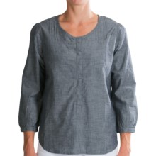 Gramicci Ella Monaco Chambray Shirt - Organic Cotton-Hemp, 3/4 Sleeve (For Women) in Classic Blue - Closeouts
