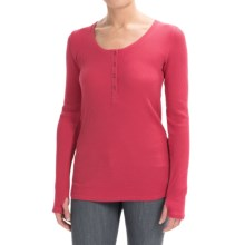 Gramicci Ellie Thermal Henley Shirt - UPF 20, Long Sleeve (For Women) in Berry - Closeouts