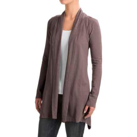 Gramicci Enza Wrap Sweater - UPF 20, Hemp-Organic Cotton (For Women) in Mink Brown - Closeouts