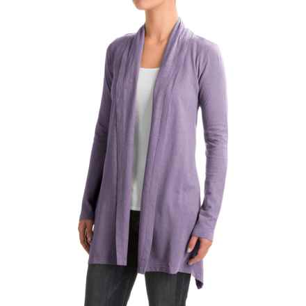Gramicci Enza Wrap Sweater - UPF 20, Hemp-Organic Cotton (For Women) in Purple Rein - Closeouts