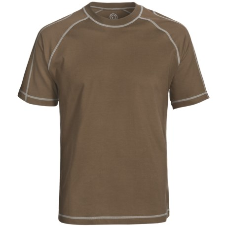 Gramicci Felton High-Performance Crew Shirt - UPF 50, Short Sleeve (For Men) in Dark Earth