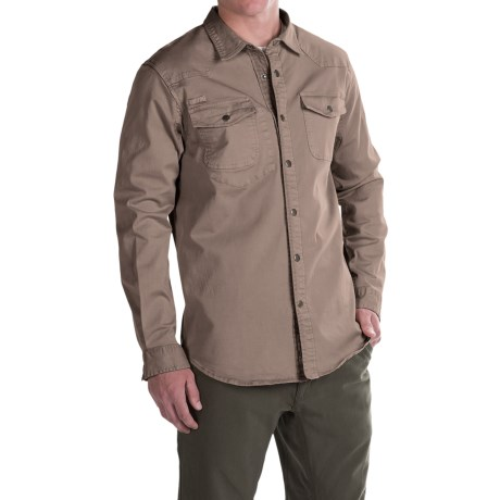 Gramicci Freedom G Shirt - Snap Front, Long Sleeve (For Men) in Hawk