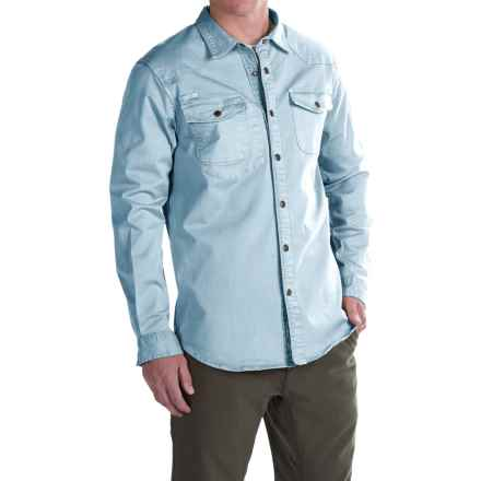 Gramicci Freedom G Shirt - Snap Front, Long Sleeve (For Men) in Laguna Blue - Closeouts