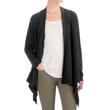 Gramicci Funday Wrap Cardigan Sweater - Organic Cotton (For Women) in Black - Closeouts