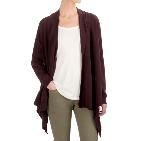 Gramicci Funday Wrap Cardigan Sweater - Organic Cotton (For Women) in Purple Rein