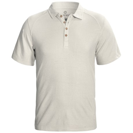 Gramicci Hawkville Organic Polo Shirt - UPF 20, Short Sleeve (For Men) in Bone White