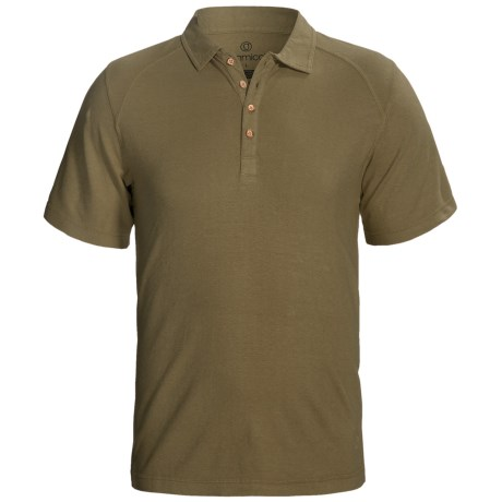 Gramicci Hawkville Organic Polo Shirt - UPF 20, Short Sleeve (For Men) in Capers