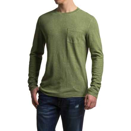 Gramicci Hemp-Organic Cotton Shirt - Crew Neck, Long Sleeve (For Men) in Chive - Closeouts