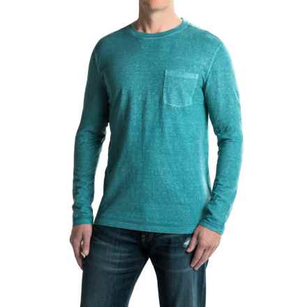 Gramicci Hemp-Organic Cotton Shirt - Crew Neck, Long Sleeve (For Men) in Coastal Blue - Closeouts