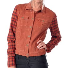 Gramicci Holly Corduroy Jean Jacket (For Women) in Rocky Brown - Closeouts